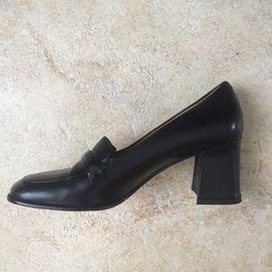 Beautiful Coach loafer heels